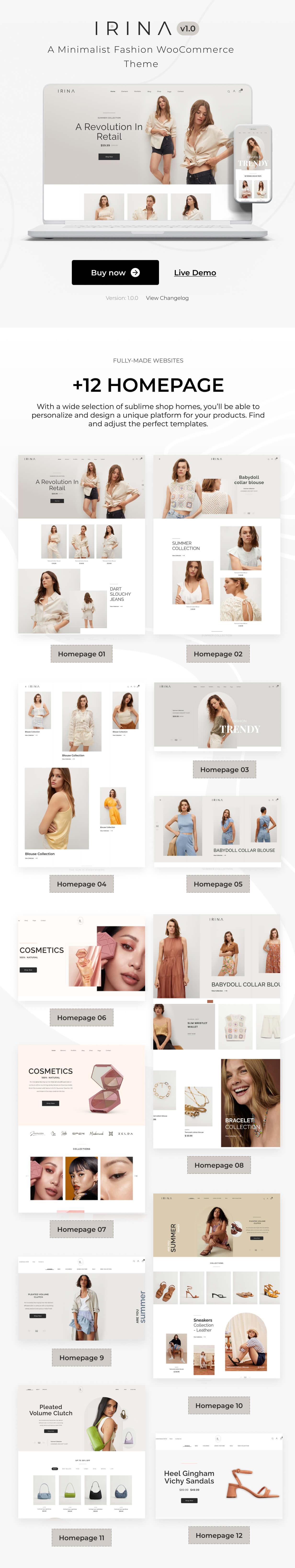 IRINA - Elementor WooCommerce Theme - 1