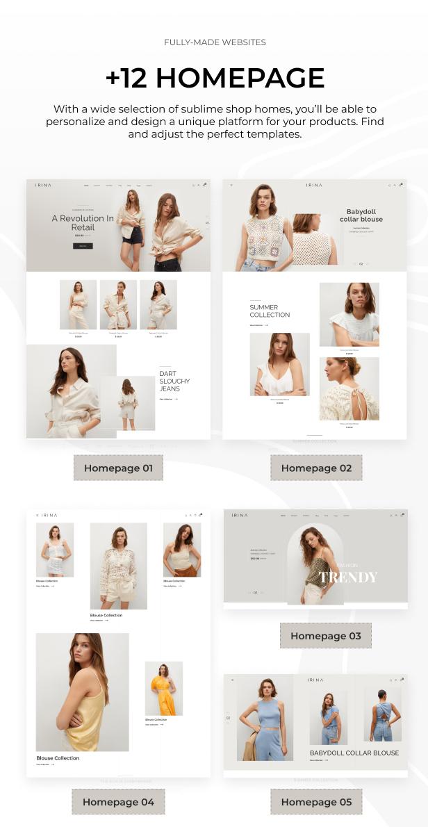 IRINA - Elementor WooCommerce Theme - 2