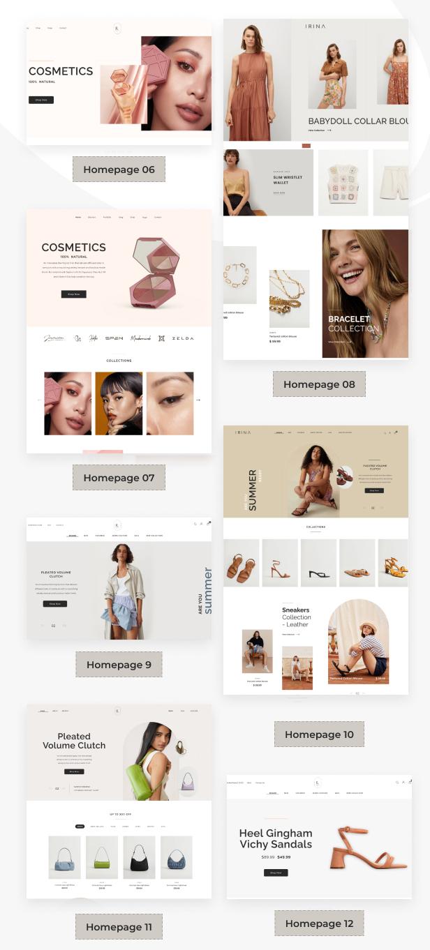 IRINA - Elementor WooCommerce Theme - 3